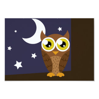 """Night Owl"" RSVP Card"
