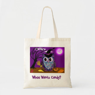 Night Owl Trick or Treat Tote 2 Budget Tote Bag
