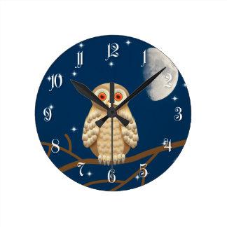 Night owl wall clocks