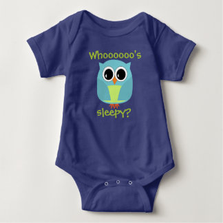 Night Owl Who's Sleepy? Baby Bodysuit