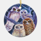 Night Owls Ceramic Ornament