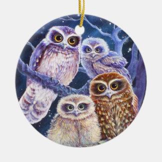 Night Owls Ceramic Ornament