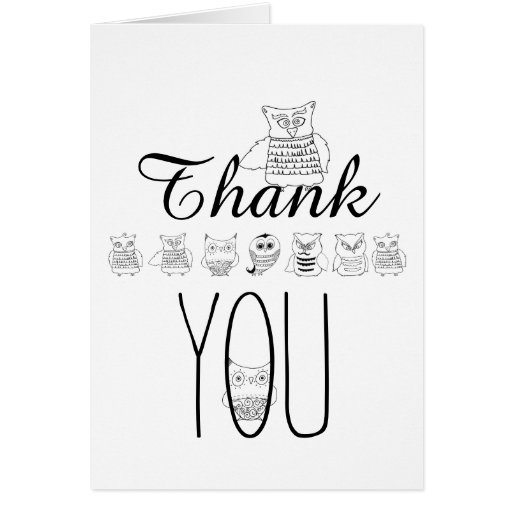 Night Owls Thank You Cards