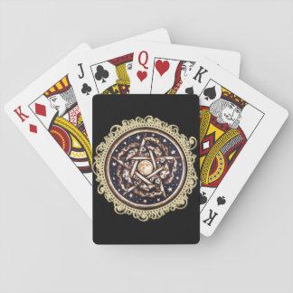 Night Pentacle Playing Cards - Black