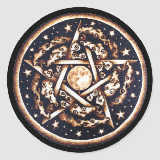 Night Pentacle Stickers