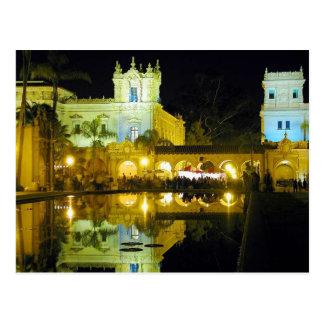 Night Ponds Water Balboa Park Postcard