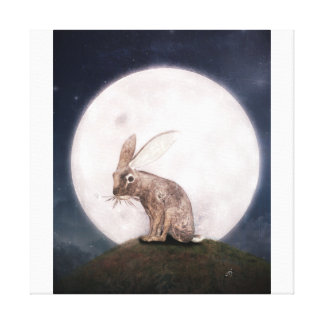 Night Rabbit Canvas Print
