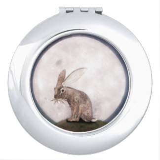 Night Rabbit Compact Mirrors
