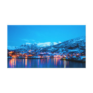 Night reflections in Norway Canvas Print