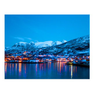 Night Reflections in Norway Postcard