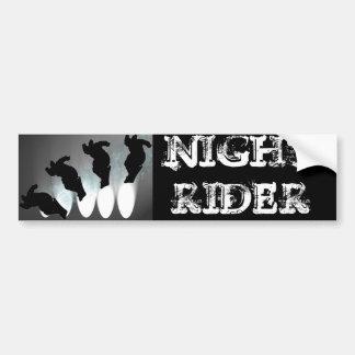 Night Rider Bumper Sticker