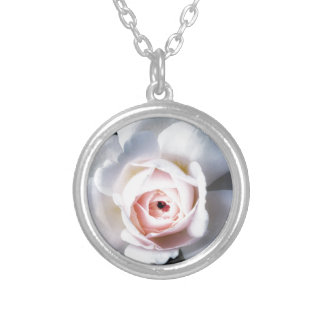 Night Rose Silver Plated Necklace