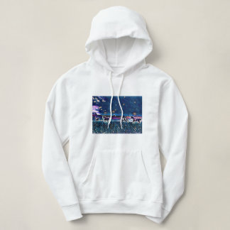 """Night Run"" 4 Horses Original Art Hoodie"
