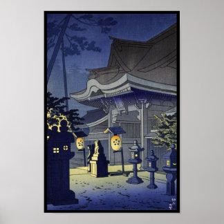 Night Scene of Kitano Shrine Asano Takeji Poster