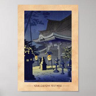 Night Scene of Kitano Shrine Asano Takeji Print