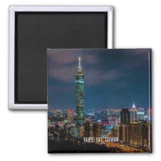Night Scene of Taipei 101, Taiwan Magnet