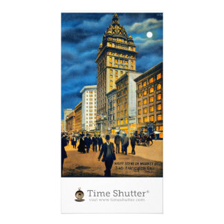Night Scene on Market Street 1915 Picture Card