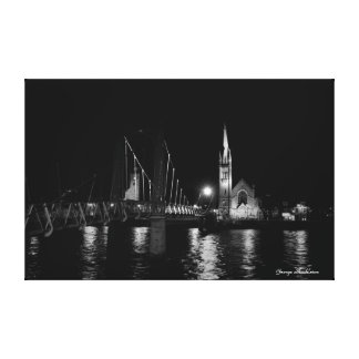 Night Scene Wall Art, Greig Street Bridge Canvas Print