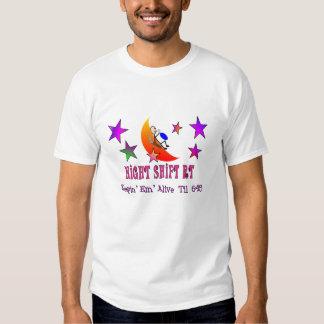 Night Shift RT MOON Stick Man T-shirts