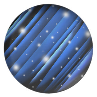 Night Sky Abstract Plate