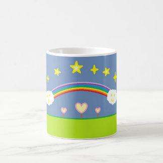 Night sky and hearts coffee mug