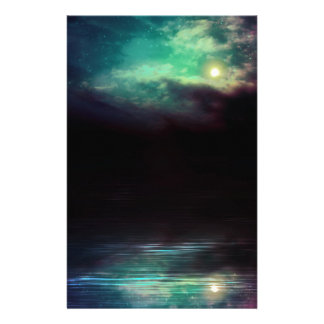 Night Sky and River 2 Stationery