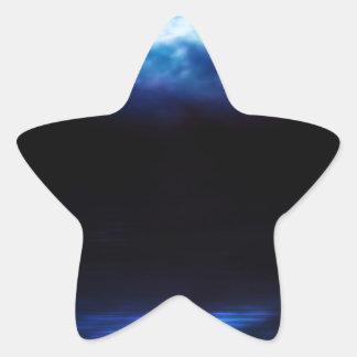 Night Sky and River Star Sticker