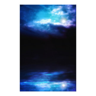 Night Sky and River Stationery Paper