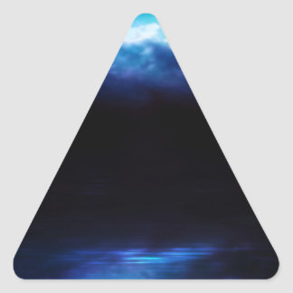 Night Sky and River Triangle Sticker