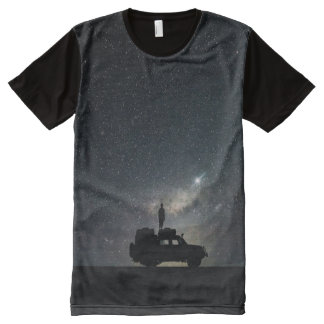 Night Sky and SUV Stars Midnight Darkness All-Over-Print T-Shirt