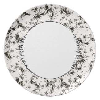 Night-Sky(c)Blk_White-Everyday_Plates Dinner Plates