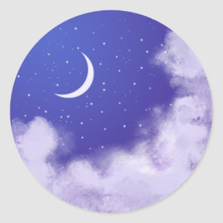 Night Sky Classic Round Sticker