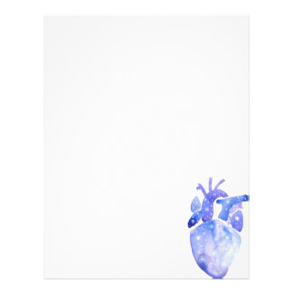 Night Sky Heart Letterhead