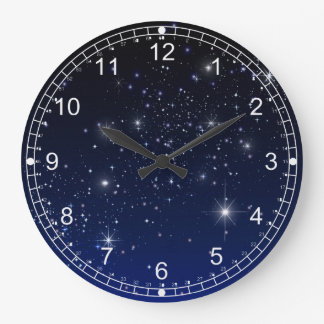 NIGHT SKY LARGE CLOCK