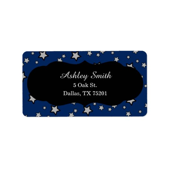 Night Sky Star Address Labels