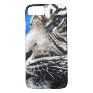 night sky stars white Tiger iPhone 8/7 Case
