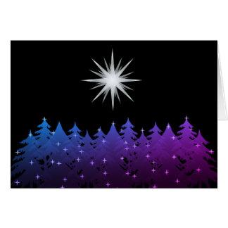 Night Sky White Star Universal Christmas Holiday Card