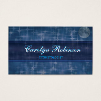 Night Sky with Moon Business Card