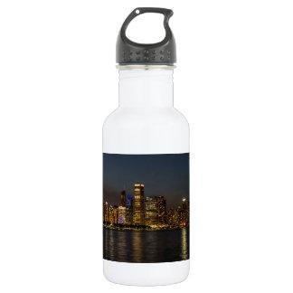 Night Skyline Chicago Pano 532 Ml Water Bottle