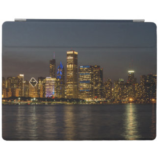 Night Skyline Chicago Pano iPad Cover