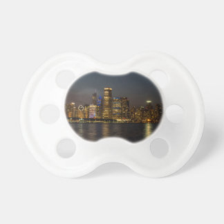 Night Skyline Chicago Pano Pacifier