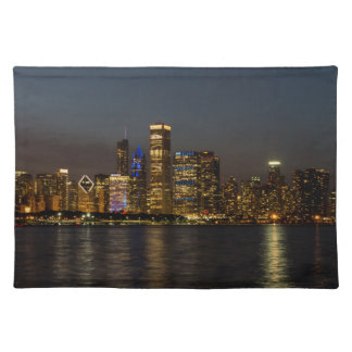 Night Skyline Chicago Pano Placemat