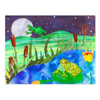 Night Songs Frogs Postcard
