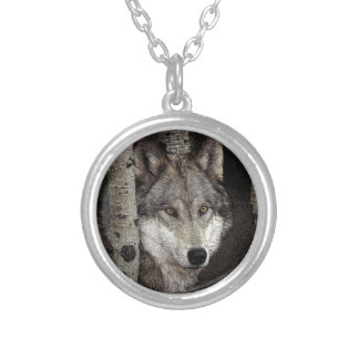 Night Stalker  Grey wolf on Necklace