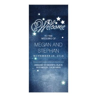 Night Stars Romantic Navy Wedding Programs
