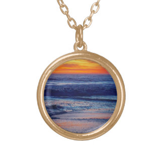 Night Sunset Beach Necklace or Your Photo and Text