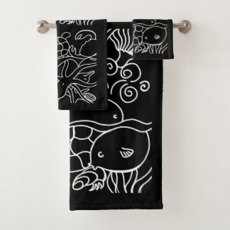 Night Swimming Bath Towel Set