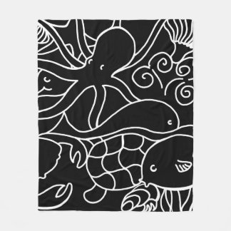 Night Swimming Fleece Blanket