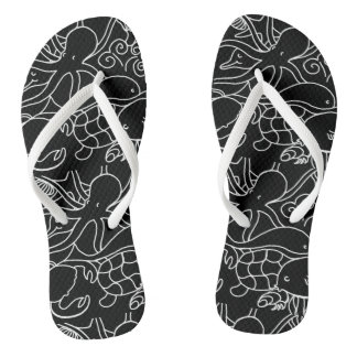 Night Swimming Flip Flops
