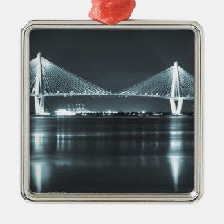 Night Time Bridge Metal Ornament